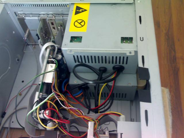 Two usual PC power supply boxes in the PC case.