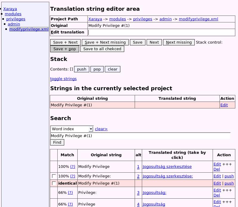 Veres Ferenc webdeveloper - XarTM - Xaraya Translation Memory ...